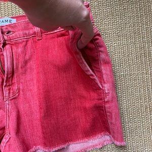 Frame Denim Shorts - MUST GO!!! Frame le Cutoff cropped shorts red